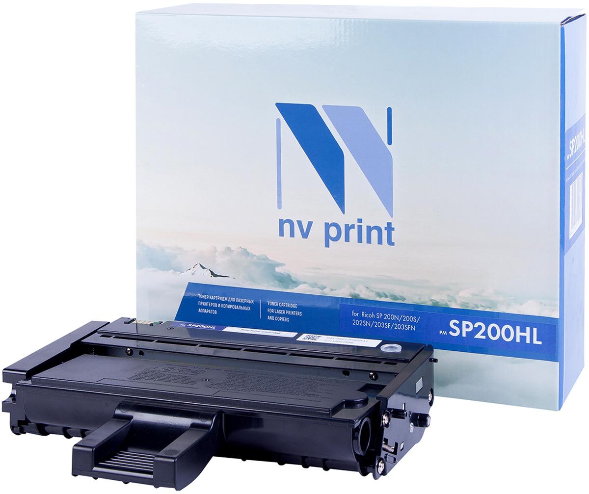 NV Print NV-SP200HL, Black тонер-картридж для Ricoh SP-200N/200S/202SN/203SF/203SFNNV-SP200HLКартридж NVP лазерный совместимый Ricoh, производитель NV Print, модель NV-SP200HL для Ricoh SP-200N/200S/202SN/203SF/203SFN, ресурс 1500 копий