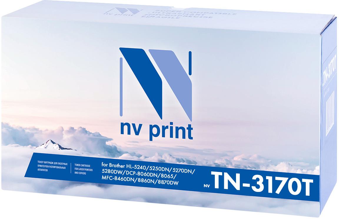 NV Print NV-TN3170, Black тонер-картридж для Brother HL-5240/5250DN/5270DN/5280DW/MFC8460N/8860DN/DCP8065DNNV-TN3170Совместимый лазерный картридж NV Print NV-TN3170 для печатающих устройств Brother - это альтернатива приобретению оригинальных расходных материалов. При этом качество печати остается высоким. Картридж обеспечивает повышенную чёткость чёрного текста и плавность переходов оттенков серого цвета и полутонов, позволяет отображать мельчайшие детали изображения. Лазерные принтеры, копировальные аппараты и МФУ являются более выгодными в печати, чем струйные устройства, так как лазерных картриджей хватает на значительно большее количество отпечатков, чем обычных. Для печати в данном случае используются не чернила, а тонер.