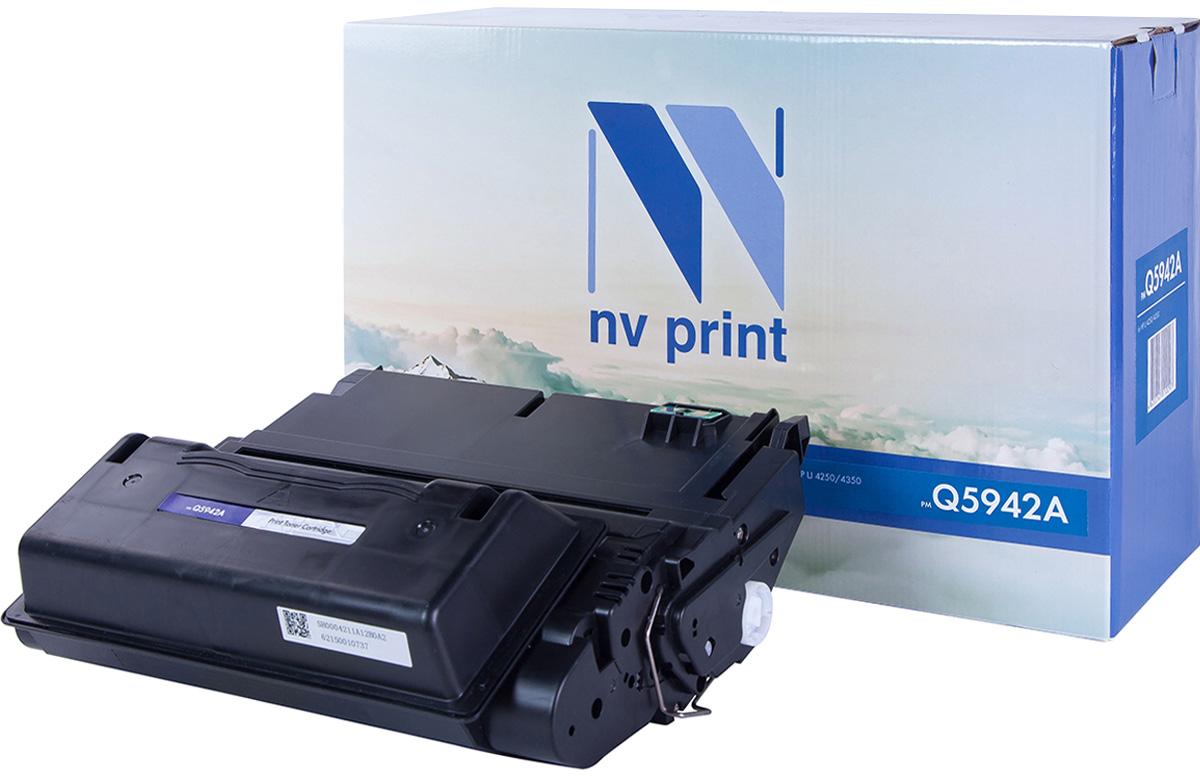 NV Print Q5942A, Black тонер-картридж для HP LaserJet 4250/4350NV-Q5942AСовместимый лазерный картридж NV Print Q5942A для печатающих устройств HP - это альтернатива приобретению оригинальных расходных материалов. При этом качество печати остается высоким. Картридж обеспечивает повышенную чёткость чёрного текста и плавность переходов оттенков серого цвета и полутонов, позволяет отображать мельчайшие детали изображения. Лазерные принтеры, копировальные аппараты и МФУ являются более выгодными в печати, чем струйные устройства, так как лазерных картриджей хватает на значительно большее количество отпечатков, чем обычных. Для печати в данном случае используются не чернила, а тонер.