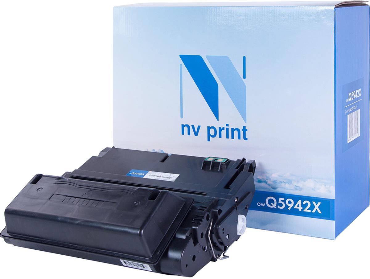NV Print Q5942X, Black тонер-картридж для HP LaserJet 4250/4350NV-Q5942XСовместимый лазерный картридж NV Print Q5942X для печатающих устройств HP - это альтернатива приобретению оригинальных расходных материалов. При этом качество печати остается высоким. Картридж обеспечивает повышенную чёткость и плавность переходов оттенков цвета и полутонов, позволяет отображать мельчайшие детали изображения. Лазерные принтеры, копировальные аппараты и МФУ являются более выгодными в печати, чем струйные устройства, так как лазерных картриджей хватает на значительно большее количество отпечатков, чем обычных. Для печати в данном случае используются не чернила, а тонер.
