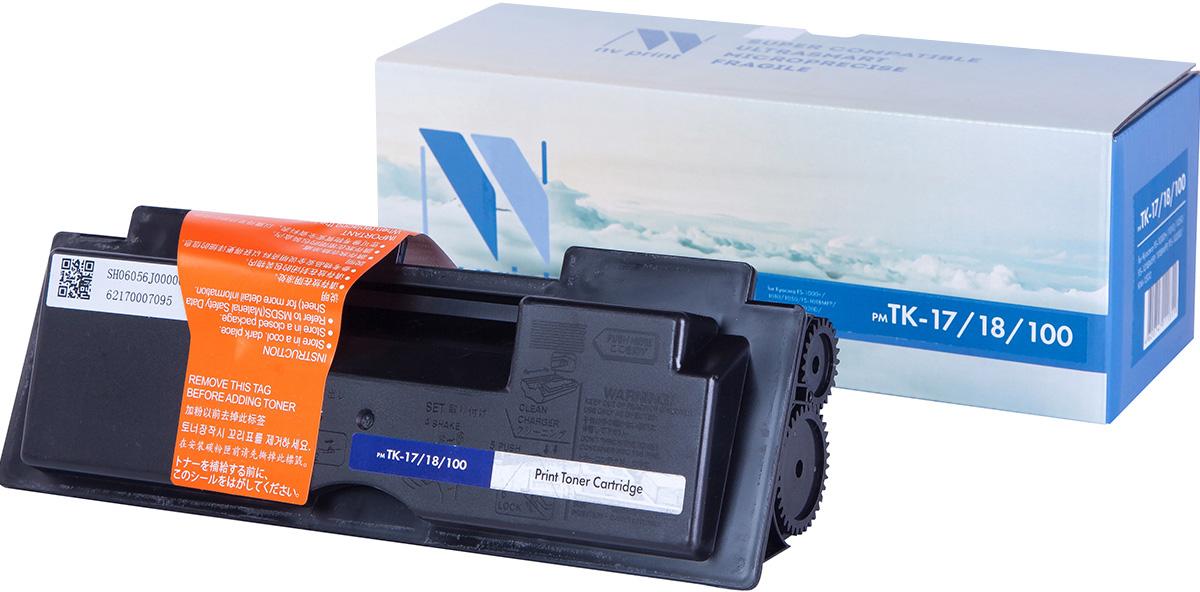 NV Print TK17/18/100, Black тонер-картридж для Kyocera FS-1000+/1010/1050/FS-1018MFP/1118MFP/FS-1020D/KM-1500NV-TK17/18/100Совместимый лазерный картридж NV Print TK17/18/100 для печатающих устройств Kyocera - это альтернатива приобретению оригинальных расходных материалов. При этом качество печати остается высоким. Картридж обеспечивает повышенную чёткость чёрного текста и плавность переходов оттенков серого цвета и полутонов, позволяет отображать мельчайшие детали изображения. Лазерные принтеры, копировальные аппараты и МФУ являются более выгодными в печати, чем струйные устройства, так как лазерных картриджей хватает на значительно большее количество отпечатков, чем обычных. Для печати в данном случае используются не чернила, а тонер.