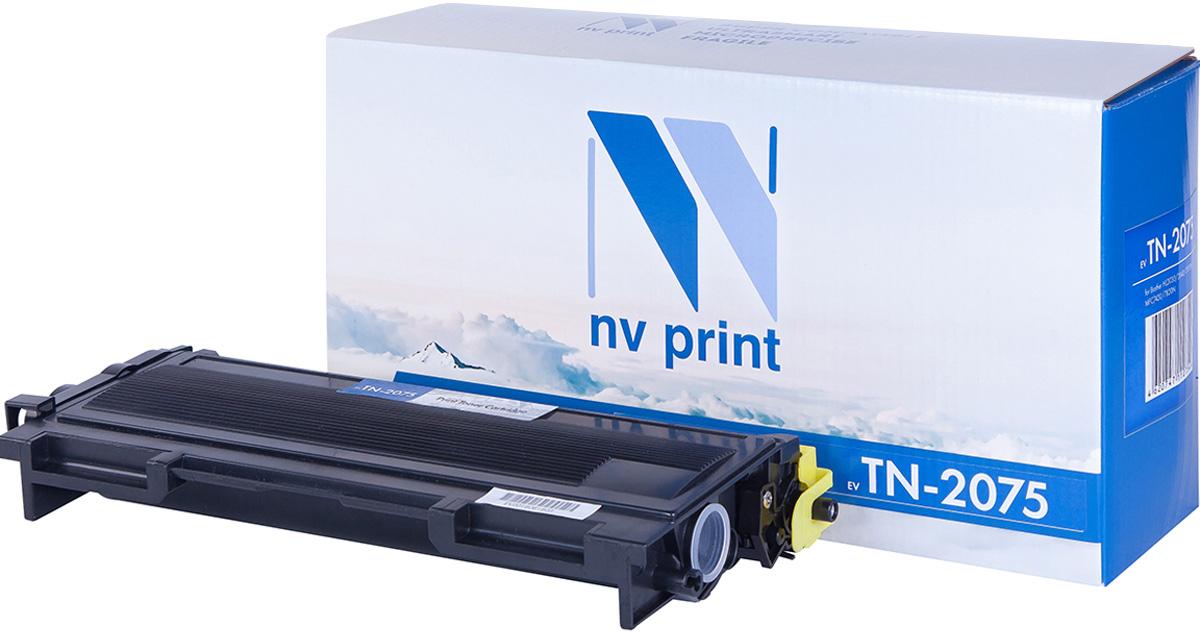 NV Print TN2075, Black тонер-картридж для Brother HL2030/2040/2070N, Brother MFC DCP-7010R/7025R/7420/7820N, FAX2825/2920NV-TN2075Совместимый лазерный картридж NV Print TN2075 для печатающих устройств Brother - это альтернатива приобретению оригинальных расходных материалов. При этом качество печати остается высоким. Картридж обеспечивает повышенную чёткость чёрного текста и плавность переходов оттенков серого цвета и полутонов, позволяет отображать мельчайшие детали изображения. Лазерные принтеры, копировальные аппараты и МФУ являются более выгодными в печати, чем струйные устройства, так как лазерных картриджей хватает на значительно большее количество отпечатков, чем обычных. Для печати в данном случае используются не чернила, а тонер.