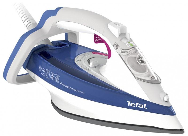 Tefal FV5515E0 утюгFV5515E0Утюг Tefal FV5515E0 обеспечит качественную заботу и профессиональный уход за вашими вещами. Фирменная подошва, мощная подача пара и удобное управление позволят сделать каждое глажение быстрым и эффективным. Фирменная металлокерамическая подошва Durilium с оптимальным распределением пара для быстрого и более эффективного глажения. Мощный паровой удар 160 г/мин обеспечивает глубокое отпаривание как в горизонтальном, так и в вертикальном положении. Уникальная функция Капля-стоп предотвращает протекание воды на одежду.. Противоизвестковый стержень и интегрированная защита от накипи Anti Scale System защищают утюг и увеличивают срок его службы. Благодаря уникальной системе Easycord шнур не мешает глажению и не сминает ткань. Удобная ручка и эргономичное управление - этот утюг создан, чтобы сделать каждое глажение приятным и комфортным. С функцией автоотключения вы можете быть спокойны: если вы...