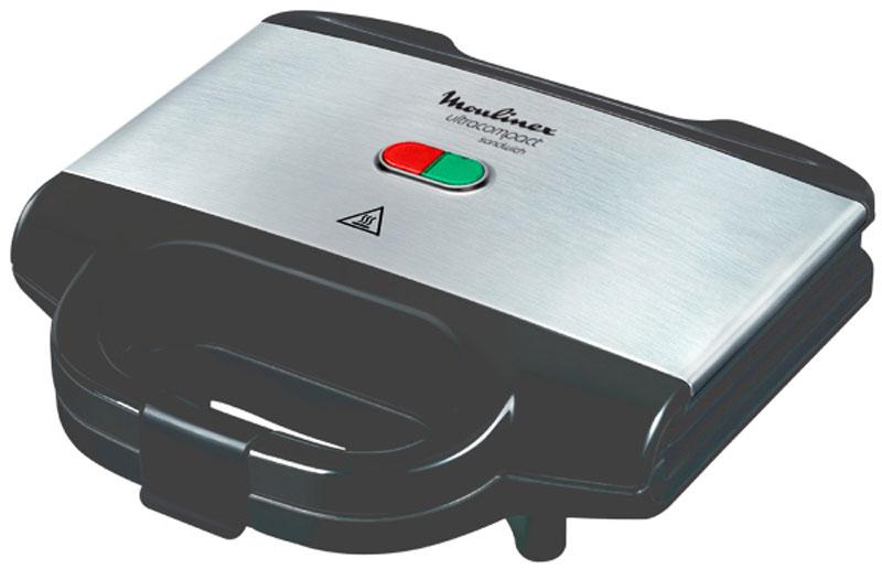 Moulinex SM155D32 сэндвичницаSM155D32Moulinex SM155D32 - прекрасный способ перекусить для всей семьи. Специальное антипригарное покрытие противней бережно поджарит сразу 4 треугольных сэндвича, а благодаря специальному отсеку для провода и компактным размерам сэндвичницу можно хранить на кухне даже в вертикальном положении.