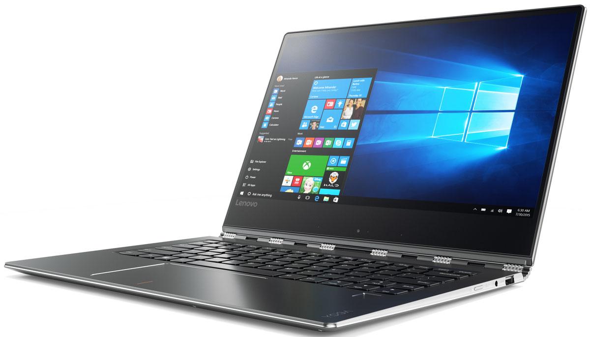 Lenovo Yoga 910-13IKB, Gun Metal (80VF004JRK)80VF004JRKЭлегантный и производительный ноутбук Yoga 910 — это стильное устройство для работы и развлечений. Цельнометаллический корпус и ультратонкие рамки притягивают взгляды, в то время как высокая производительность, дисплей с высоким разрешением и объемный звук позволят разбудить твою фантазию. Больше, чем просто ноутбук, — Yoga 910 подстраивается под твой образ жизни. Привлекает внимание, где бы ты ни находился. Сенсорный дисплей Yoga 910 с высоким разрешением и тонкими рамками обеспечивает невероятную четкость изображения. Широкие углы обзора и матрица IPS позволят отобразить мельчайшие детали любых документов, фото, видео, игр и веб-страниц, независимо от угла просмотра. Тщательно обработанная поворотная конструкция по типу часового браслета не только впечатляюще выглядит, но и практична в работе. Мастерски отрегулированная, она позволяет плавно открыть ноутбук. Конструкция к тому же достаточно устойчивая, чтобы удерживать сенсорный экран в удобном...