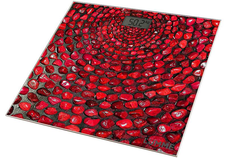Lumme LU-1329 Красный коралл напольные весыLU-1329Электронные напольные весы Lumme LU-1329 с платформой из прочного полированного стекла и жидкокристаллическим дисплеем с легко читаемыми цифрами. Весы обеспечивают взвешивание до 180 килограммов с точностью до 100 граммов и способны работать в различных единицах измерения. Цифровой дисплей, индикаторы перегрузки и замены батареи, включение от прикосновения, а также функция автоматического обнуления и отключения подарят наибольший комфорт при использовании весов и надолго сохранят заряд батарейки. Весы LU-1329 - это красиво оформленный надежный и точный прибор. Он обязательно подарит вам удовольствие от использования и отличное настроение!