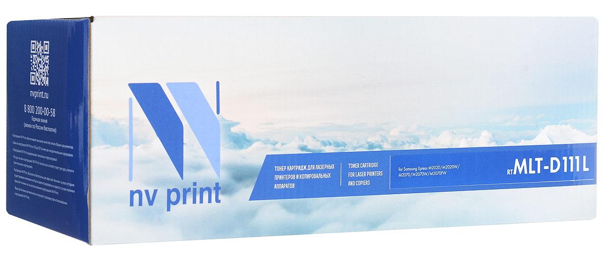 NV Print MLT-D111L, Black тонер-картридж для Samsung Xpress M2020/M2020W/M2070/M2070W/M2070FWNV-MLTD111LСовместимый лазерный картридж NV Print MLT-D111L для печатающих устройств Samsung Xpress M2020/M2020W/M2070/M2070W/M2070FW - это альтернатива приобретению оригинальных расходных материалов. При этом качество печати остается высоким. Тонер-картридж NV Print MLT-D111L спроектирован и разработан с применением передовых технологий, наилучшим образом приспособлен для эффективной работы печатного устройства. Все компоненты оптимизируют процесс печати и идеально сочетаются в течение всего времени работы, что дает вам неизменно качественные результаты при использовании вашего лазерного принтера.