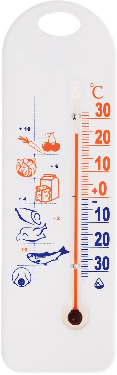 Термометр для холодильника Стеклоприбор. ТБ-3М1 исп.9103235Термометр для холодильника Стеклоприбор предназначен для измерения и контроля температуры в холодильнике. Корпус термометра выполнен из пластика. Модель имеет наглядную шкалу с ценой деления в 1°С и широкий диапазон температур - от -30 до +30°С. Не содержит ртути. Термометр крепится боковым или горизонтальным кронштейном. Безопасное и правильное хранение продуктов питания - залог здоровья.