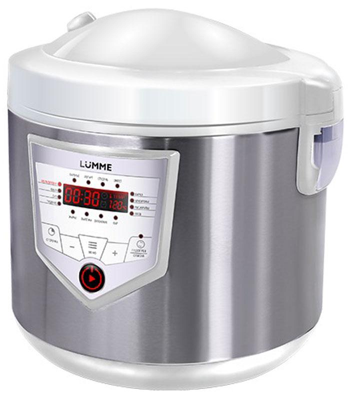 Lumme LU-1446 Chef Pro, White Steel мультиваркаLU-1446Мультиварка LU-1446 Chef Pro - это высокотехнологичная кухонная техника для легкого приготовления всевозможных блюд с сохранением всех питательных свойств продуктов! Программы для мультиварок - это удобно, быстро и очень вкусно! Перейдите на новый уровень владения кулинарным искусством с помощью готовых программ Lumme! 46 программ приготовления (16 автоматических программ и 30 ручных настроек) позволяют приготовить множество новых блюд! Помимо стандартного для большинства мультиварок набора блюд теперь вы можете готовить йогурты, жаркое, студень, заливное, буженину, томить мясо, варить варенье или морс. Для каждой из 16 автоматических программ подобраны оптимальные значения времени и температуры приготовления, загружаемые по умолчанию при запуске программы. Одной из главных особенностей мультиварки Lumme LU-1446 Chef Pro является возможность ручной настройки времени (от 1 минуты до 24 часов с шагом в 1 минуту и 1 час) и температуры...