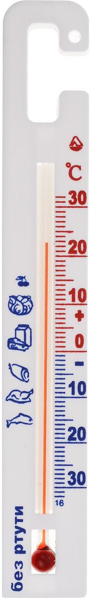 Термометр для холодильника Стеклоприбор. ТБ-3М1 исп.7300132Термометр для холодильника Стеклоприбор предназначен для измерения и контроля температуры в холодильнике. Корпус термометра выполнен из пластика. Модель имеет наглядную шкалу с ценой деления в 1°С и широкий диапазон температур - от -30 до +30°С. Не содержит ртути. Устанавливается с помощью крючка. Безопасное и правильное хранение продуктов питания - залог здоровья.