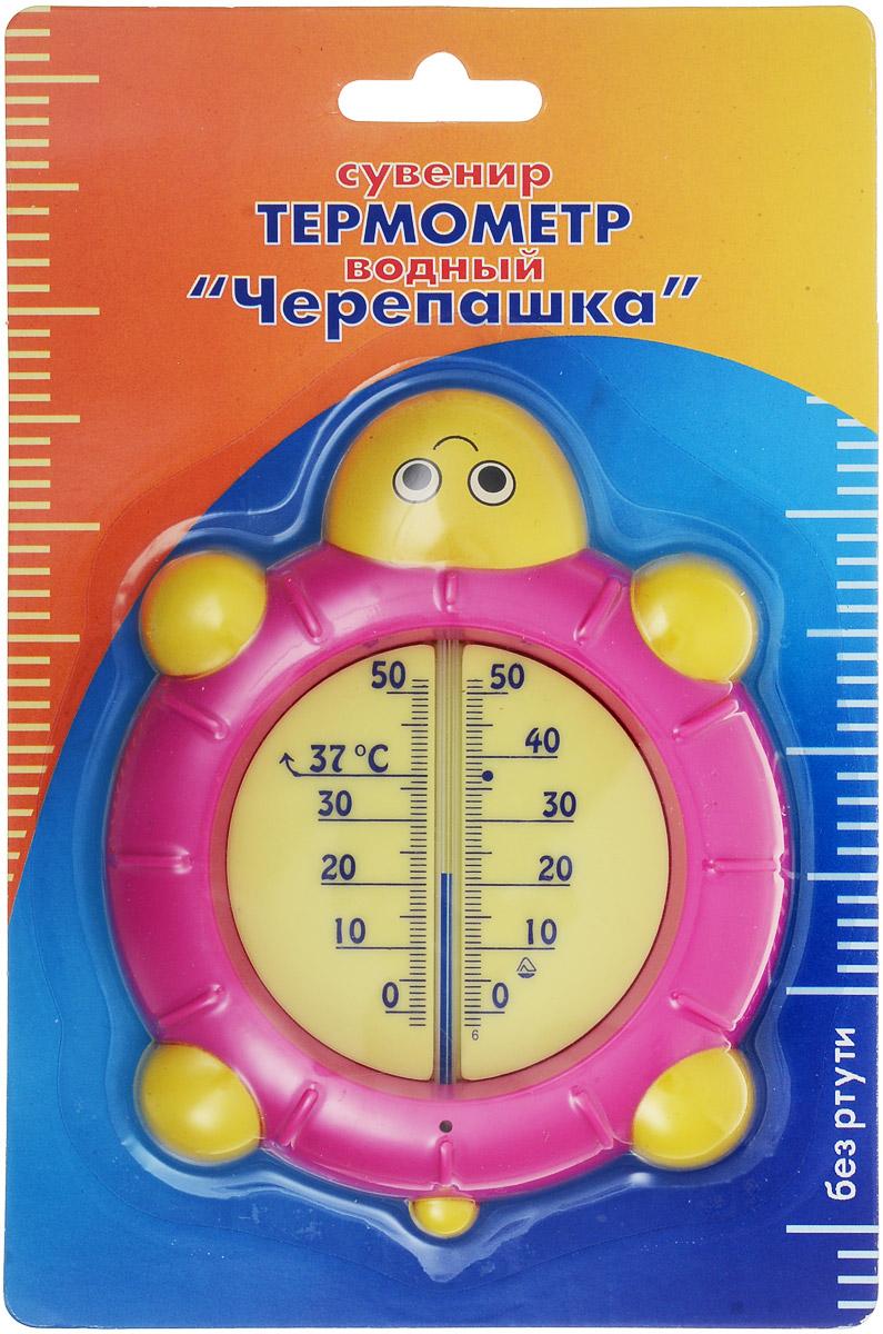 Термометр водный Стеклоприбор Черепашка, цвет: розовый, желтый. В-4300151_темно-розовыйВодный термометр Стеклоприбор используется для измерения температуры воды, чаще всего при купании детей. Корпус термометра выполнен из пластика в виде черепашки, а колба изготовлена из ударопрочного стекла. Модель имеет наглядную шкалу с ценой деления в 1°С и широкий диапазон температур - от 0 до +50°С. На термометре есть отметка 37°С - оптимальная температура купания ребенка. Яркий и интересный, такой термометр для воды будет не просто измерительным прибором, но и безопасной игрушкой во время купания для ваших детей. Не содержит ртути.