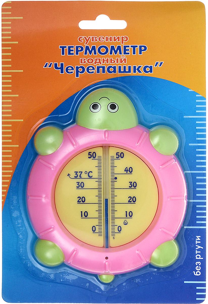 Термометр водный Стеклоприбор Черепашка, цвет: светло-розовый, зеленый, желтый. В-4300151_светло-розовыйВодный термометр Стеклоприбор используется для измерения температуры воды, чаще всего при купании детей. Корпус термометра выполнен из пластика в виде черепашки, а колба изготовлена из ударопрочного стекла. Модель имеет наглядную шкалу с ценой деления в 1°С и широкий диапазон температур - от 0 до +50°С. На термометре есть отметка 37°С - оптимальная температура купания ребенка. Яркий и интересный, такой термометр для воды будет не просто измерительным прибором, но и безопасной игрушкой во время купания для ваших детей. Не содержит ртути.