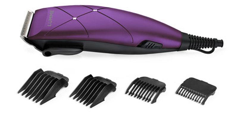 Lumme LU-2508, Violet Chariot машинка для стрижкиLU-250815-ваттная машинка для стрижки волос Lumme LU-2508 предназначена для создания превосходной стрижки в домашних условиях. Режущие лезвия из высококачественной нержавеющей стали надолго останутся острыми, а эргономичный корпус машинки обеспечит максимальное удобство при ее использовании.