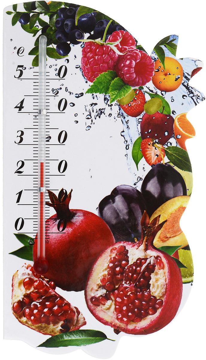 Термометр комнатный Стеклоприбор Сувенир. Фрукты, на магните. 300074_гранат300074_гранатЖидкостный термометр Стеклоприбор Сувенир. Фрукты выполнен в декоративном корпусе из картона. С помощью магнитного крепления такой термометр можно повесить на холодильник. Термометр имеет шкалы измерения температуры по Цельсию (от -2°С до +52°С). Благодаря такому термометру вы всегда будете точно знать, насколько тепло в помещении. Жидкостный термометр Стеклоприбор Сувенир. Фрукты отлично впишется в интерьер вашей кухни, а также станет отличным сувенирным подарком для ваших родных и близких. Размеры термометра: 14,5 х 8 см.