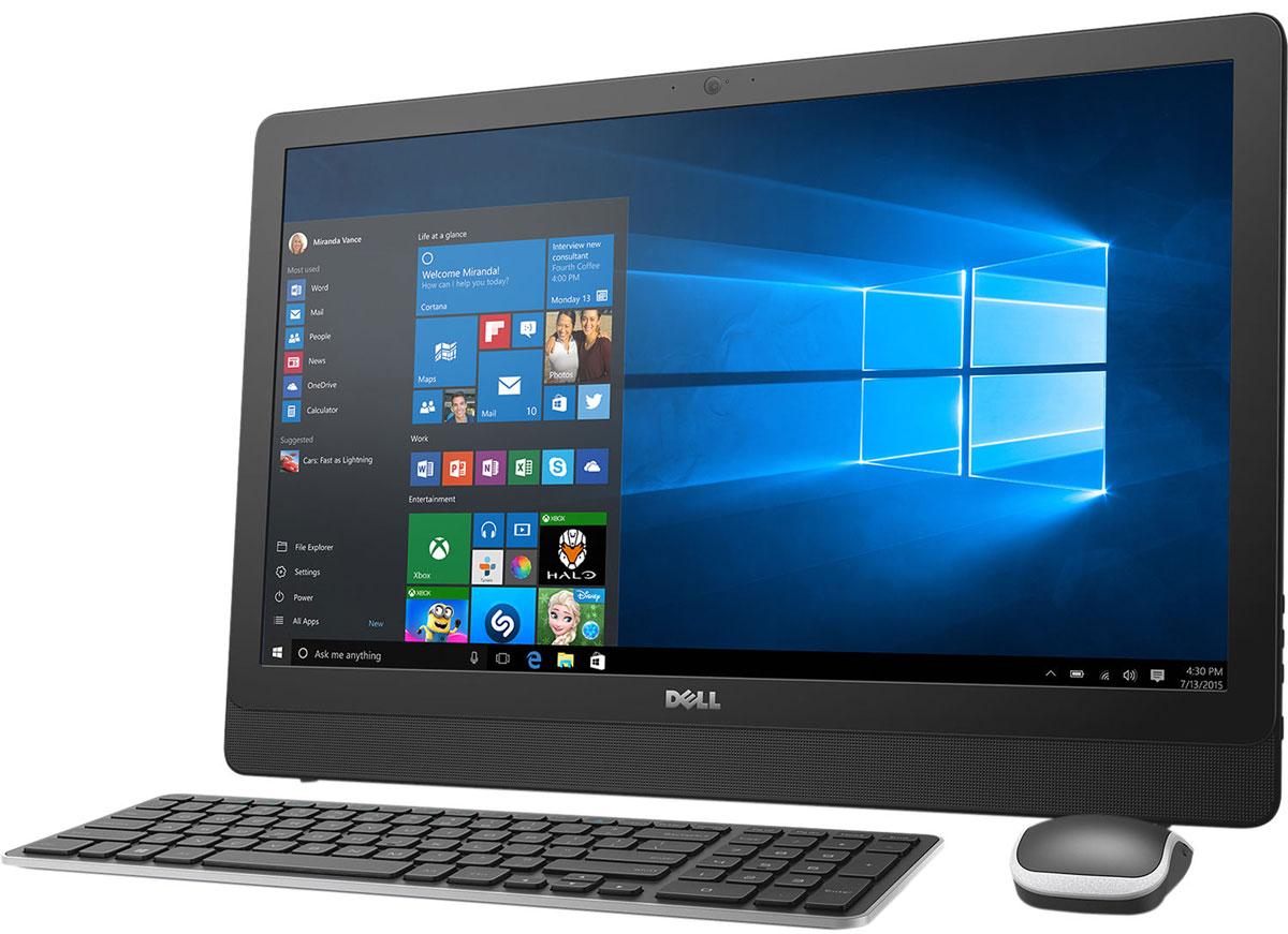 Dell Inspiron 3464-9920, Black моноблок3464-9920Dell Inspiron 3464 отличается дисплеем с диагональю 23,8 дюйма, широкими углами обзора и разрешением Full HD, встроенными динамиками и веб-камерой, адаптивной производительностью и привлекательным тонким корпусом. Это удобный настольный компьютер все в одном, который станет отличной покупкой для всей семьи. Откидная подставка и конструкция, предусматривающая использование всего одного кабеля, позволяют быстро и легко разместить компьютер в любом помещении. Черный корпус компьютера Dell Inspiron 3464 с невероятно тонкой панелью и выполненные в едином стиле с корпусом клавиатура и мышь прекрасно дополнят любой интерьер. Оцените совершенно новый уровень фильмов и игр благодаря процессору Intel Core i3-7100U. Мощный графический адаптер, высочайшая производительность и потрясающее качество изображения выводят мультимедийные возможности компьютера на новый уровень. Dell Inspiron 3464 с дисководом оптических дисков и жестким диском...