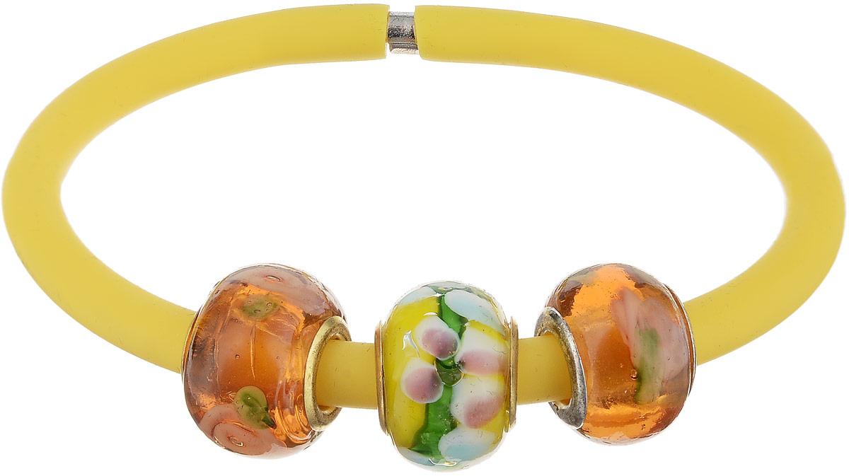 Браслет Пандора. Муранское стекло, каучук желтого цвета, ручная работа. Murano, Италия (Венеция)T-B-7542-BRAC-ROSEБраслет Пандора. Муранское стекло, каучук желтого цвета, ручная работа. Murano, Италия (Венеция). Размер: полная длина 19 см. Каждое изделие из муранского стекла уникально и может незначительно отличаться от того, что вы видите на фотографии.