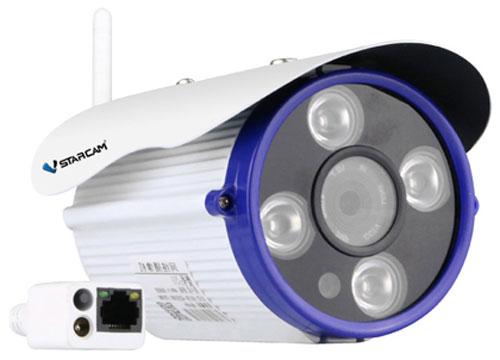 Vstarcam C8851WIP IP камера видеонаблюдения1600000360044Vstarcam C8851WIP - это уличная беспроводная WiFi IP камера с разрешением Full HD с температурным режимом до - 25 градусов, мощной ИК подсветкой до 20 метров, технологией простой настройки P2P, поддержкой карт памяти microSD до 128 ГБ, и протоколов RTSP и Onvif (подключение к сетевым регистраторам и сервисам). Камера может не только передавать видео через Интернет без статического IP адреса, но и вести запись архива на карту microSD до 128 ГБ с возможностью удаленного просмотра. Архив всегда под рукой на компьютере или ноутбуке, планшете или смартфоне. Просматривать камеру со смартфона Apple или Android, планшета или ноутбука очень легко - в комплект к камере идет простое русскоязычное приложение для просмотра и управления камерой. Vstarcam C8851WIP поддерживает сжатие видео в кодек H.264, что существенно уменьшает объем данных, передаваемых через Интернет. Это дает возможность использовать камеру, например, при плохом или нестабильном качестве работы...