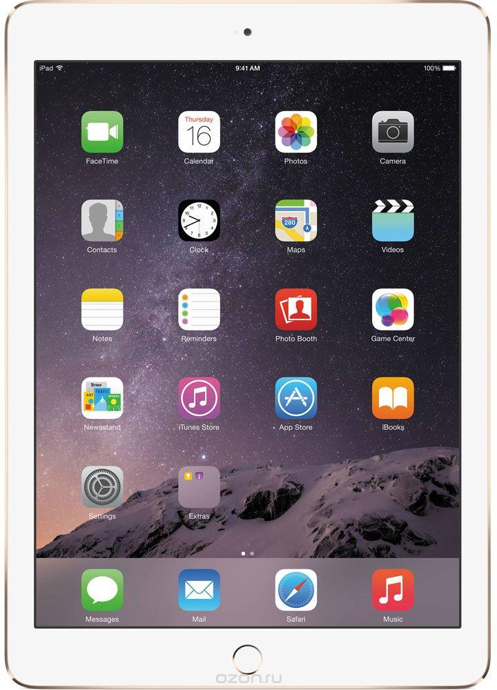 Apple iPad Air 2 Wi-Fi + Cellular 32GB, GoldMNVR2RU/AApple iPad Air 2 приносит новые ощущения от пользования планшетами. Отныне устройство становится тонким на столько на сколько это возможно вообще. Первое, на что обращаешь внимание - насколько тонкое и лёгкое устройство у вас в руках. Толщина iPad Air 2 - всего 6,1 миллиметра. А весит он менее 450 грамм. Его ещё легче держать одной рукой и брать с собой повсюду. Жидкокристаллический слой дисплея стал ближе к вам и вашим пальцам. Когда вы касаетесь экрана, кажется, будто между вами и вашим контентом ничего нет. Кроме того, повышена чувствительность экрана. Он теперь ещё лучше реагирует на ваши движения и воспринимает даже самые быстрые жесты. Вы можете играть, работать в интернете, смотреть фотографии или видео - чем бы вы ни занимались, всё работает удивительно плавно. Дисплей iPad Air 2 покрыт специальным антибликовым покрытием, на 56 процентов уменьшающим объём отражённого света - мало планшетов могут похвастаться тем же. Практически в любых условиях...
