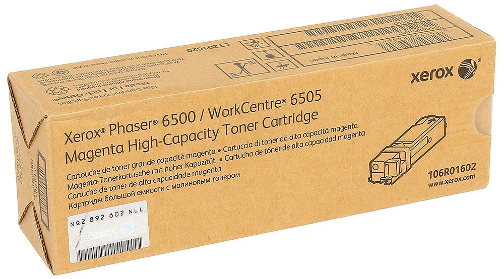 Xerox 106R01602, Magenta тонер-картридж для Phaser 6500/WorkCentre 6505