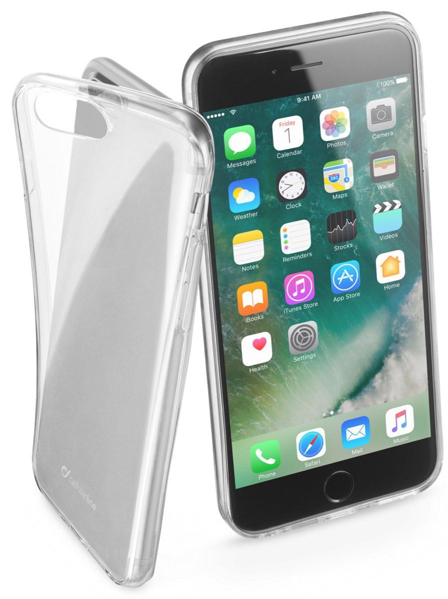 Cellular Line Fine чехол для Apple iPhone 7 Plus, ClearFINECIPH755TПрозрачная силиконовая задняя крышка для смартфона, ультратонкая, ультрапрозрачная.