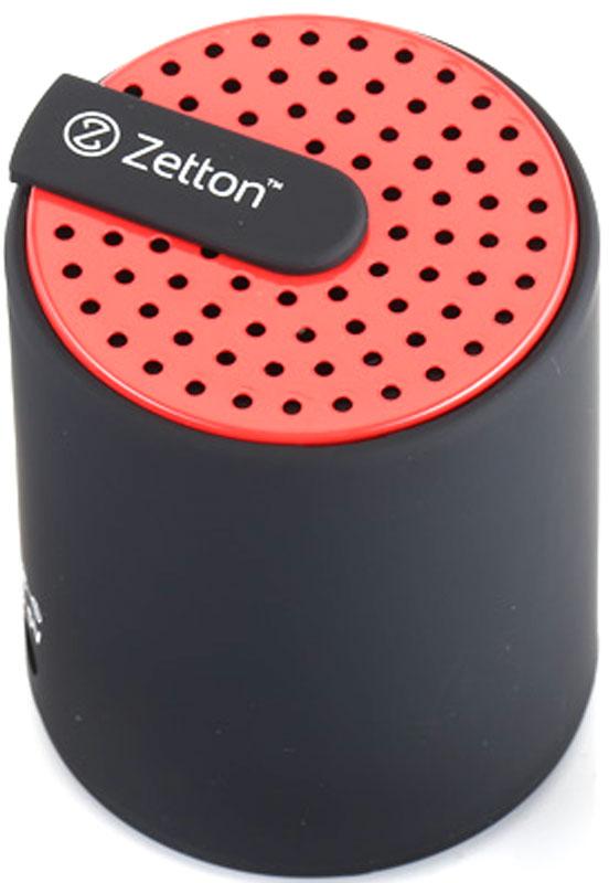 Zetton Cylinder, Black Red портативная Bluetooth-колонка (ZTLSBSCYLBR)