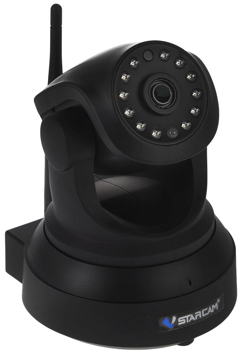 Vstarcam C8824WIP, Black IP камера видеонаблюдения1600000360051Vstarcam C8824WIP - беспроводная поворотная IP камера с Full HD качеством видео, простой настройкой P2P, поддержкой карт памяти до 128 ГБ, а также возможностью просмотра с устройств Apple и Android. Данная модель имеет простое и понятное русскоязычное приложение для настройки, просмотра и управления всеми функциями камеры. Не требуется использовать статические IP адреса, вся работа с камерой максимально упрощена. Запись на карту Micro SD объемом до 128 ГБ происходит циклически, старые файлы автоматически стираются и меняются на новые. Есть возможность удаленного обращения к карте памяти через приложение. Камера может передавать тревожные сообщения на ваш телефон, планшет, компьютер. Выбирая Vstarcam C8824WIP, вы всегда будете в курсе событий. Vstarcam C8824WIP обладает современным дизайном, использовать ее можно как дома или в офисе, так и на производстве, складе или же для загородного дома.