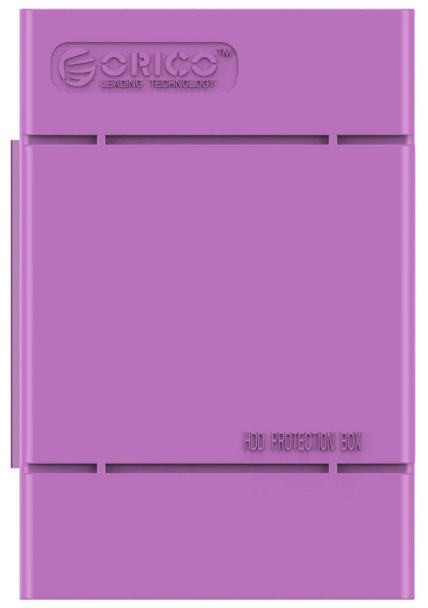 Orico PHP-35, Purple чехол для жесткого дискаORICO PHP-35-PUКейс Orico PHP-35 специально создан для защиты 3,5-дюймовых жестких дисков. Надежный материал кейса защитит диск от влаги и статического электричества, а благодаря дополнительным ребрам жесткости, кейс гарантирует хорошую защиту от ударов. С помощью специальной этикетки можно легко и просто сделать пометки на кейсе.