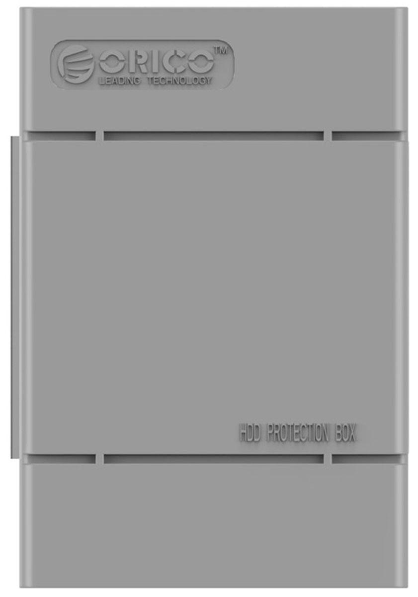Orico PHP-35, Gray чехол для жесткого дискаORICO PHP-35-GYКейс Orico PHP-35 специально создан для защиты 3,5-дюймовых жестких дисков. Надежный материал кейса защитит диск от влаги и статического электричества, а благодаря дополнительным ребрам жесткости, кейс гарантирует хорошую защиту от ударов. С помощью специальной этикетки можно легко и просто пометить кейс с жестким диском.