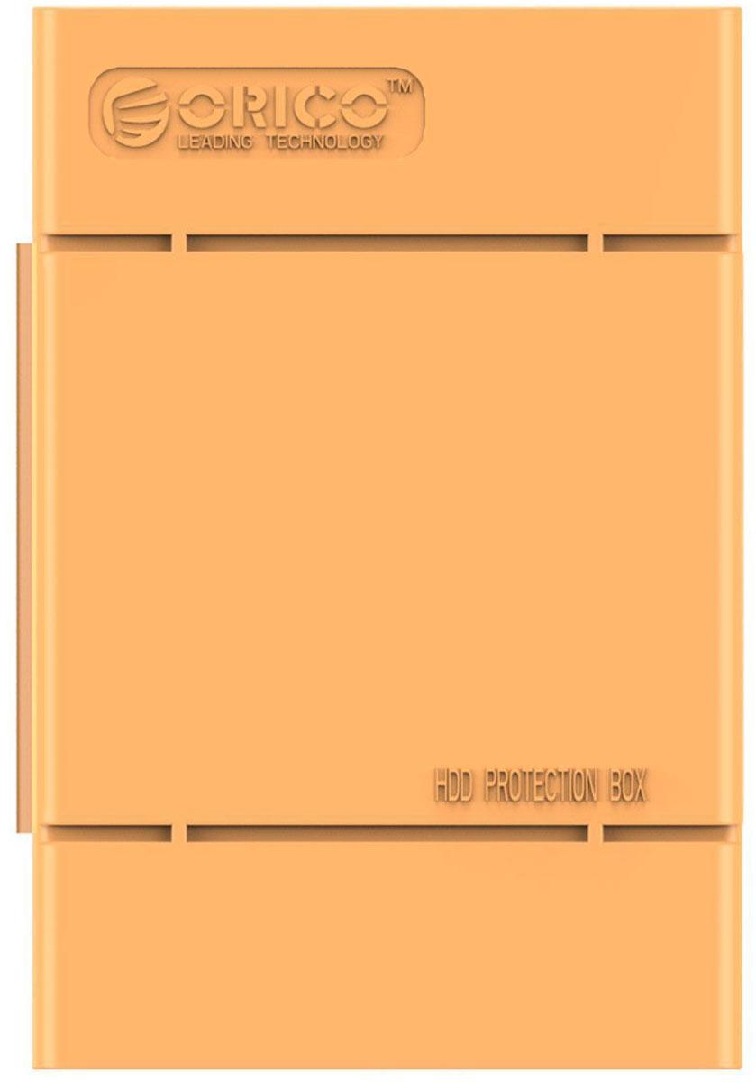 Orico PHP-35, Orange чехол для жесткого дискаORICO PHP-35-ORКейс Orico PHP-35 специально создан для защиты 3,5-дюймовых жестких дисков. Надежный материал кейса защитит диск от влаги и статического электричества, а благодаря дополнительным ребрам жесткости, кейс гарантирует хорошую защиту от ударов. С помощью специальной этикетки можно легко и просто сделать пометки на кейсе.