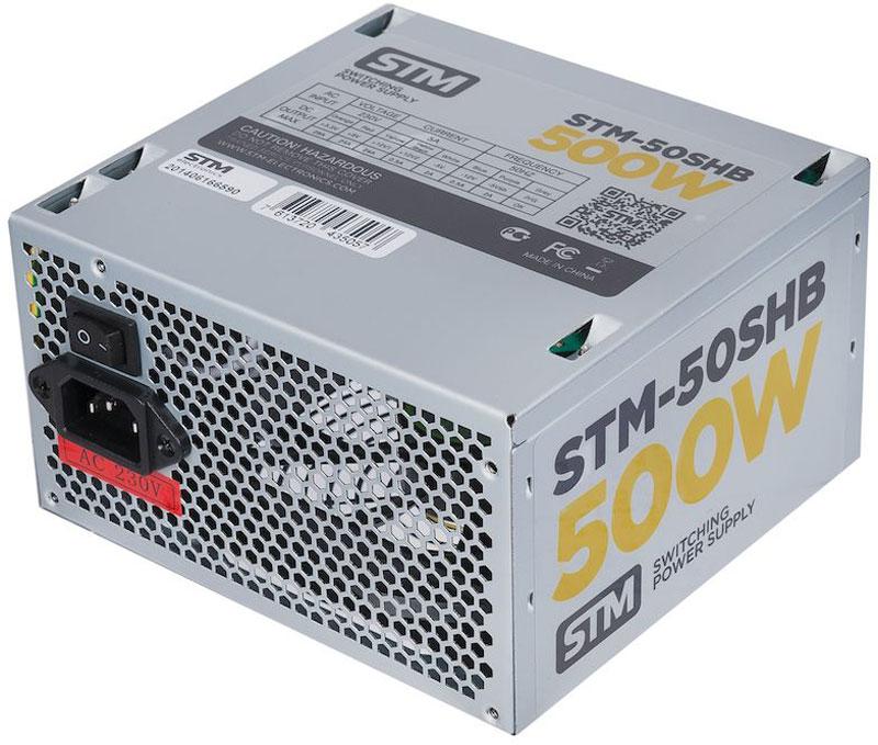 STM 50SHB блок питания для игрового компьютера1000205627Блок питания STM 50SHB обеспечит бесперебойную работу вашего компьютера. Он изготовлен с применением высококачественных материалов. Высокая производительность делает этот источник питания отличным выбором при сборке ПК. Выполненный из прочного металла, блок питания STM 50SHB оснащен мощным вентилятором для охлаждения. Его диаметр составляет 120 мм. Данный вентилятор обеспечивает превосходное охлаждения блока питания и отличается фактически полным отсутствием шума во время своей работы.