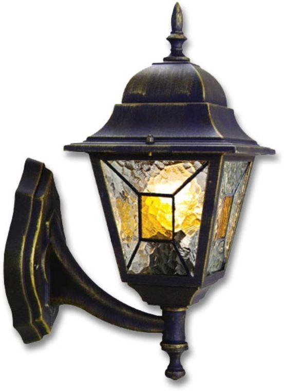 Светильник уличный Duwi Crespo, цвет: черное золото, 400 мм. 24079 224079 2Настенный светильник для улицы (бра вверх) - один из четырех садово-парковых светильников популярной серии Креспо, выполненных в классическом дизайне. Корпус изготовлен из алюминиевого сплава.