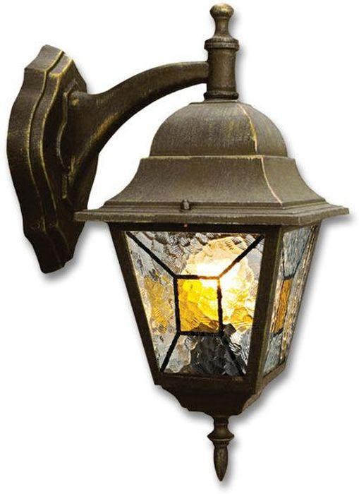 Светильник уличный Duwi Crespo, цвет: черное золото, 400 мм. 24080 824080 8Настенный светильник для улицы (бра вниз) - один из четырех садово-парковых светильников популярной серии Креспо, выполненных в классическом дизайне. Корпус изготовлен из алюминиевого сплава.