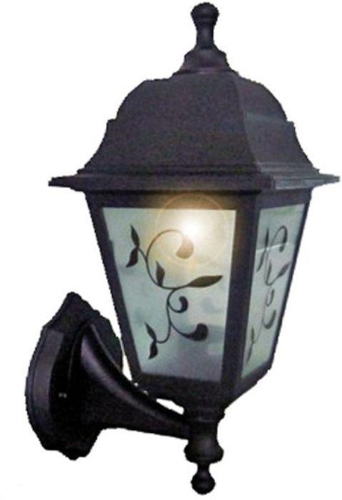 Светильник уличный Duwi Lousanne, цвет: черный, 345 мм. 24144 724144 7Светильник настенного крепления серии Lousanne. Отличительная особенность - возможность крепления двумя способами: бра вверх и бра вниз. Корпус светильника изготовлен из ударопрочного пластика. Стекло матовое с рисунком. Luosanne - одна из самых экономичных серий светильников - идеальное решение для дачи.