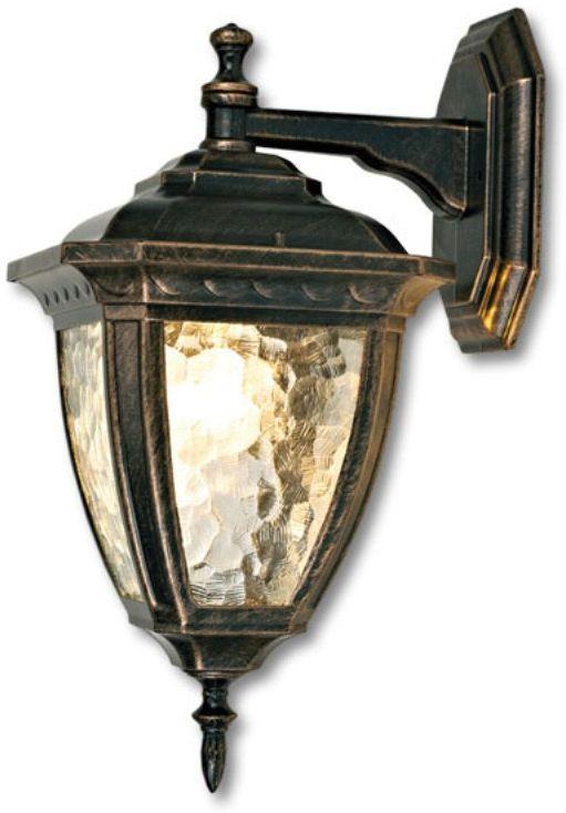 Светильник уличный Duwi Marseille, цвет: золотая умбра, 415 мм. 24159 124159 1Настенный уличный светильник (бра вниз) с плафоном увеличенного размера - один из трех светильников серии Марсель, выполненных в классическом дизайне. Широкий каркас из алюминиевого сплава. Стекло необычной структуры волна.