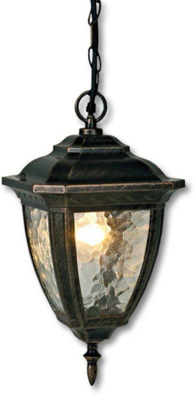 Светильник уличный Duwi Marseille, цвет: золотая умбра, 996 мм. 24160 724160 7Подвесной потолочный светильник на цепочке с плафоном увеличенного размера - один из трех светильников серии Марсель, выполненных в классическом дизайне. Широкий каркас из алюминиевого сплава. Стекло необычной структуры волна.