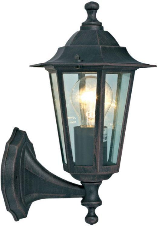 Светильник уличный Duwi Southampton, цвет: коричневый, 345 мм. 25630 425630 4Настенный уличный светильник бра вверх входит в состав серии садово-парковых светильников Southamption. Светильники этой серии выделяются среди других строгим классическим стилем и гармоничными пропорциями. Корпус светильников выполнен из высококачественного алюминиевого сплава, устойчивого к коррозии.