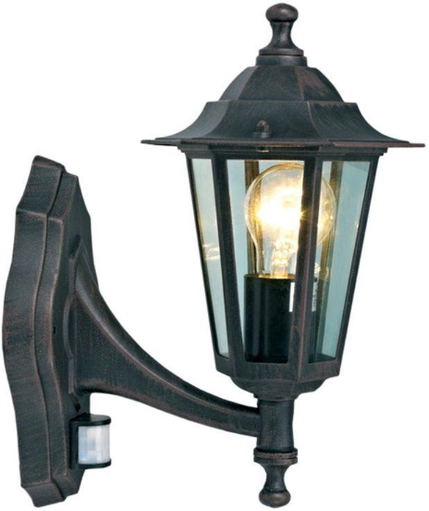 Светильник уличный Duwi Southampton, с датчиком движения, цвет: коричневый, 345 мм. 25634 225634 2Настенный уличный светильник бра вверх с датчиком движения входит в состав серии светильников для парков и приусадебных участков Southamption. Светильники этой серии выделяются среди других строгим классическим стилем и гармоничными пропорциями. Корпус светильников выполнен из высококачественного алюминиевого сплава, устойчивого к коррозии.