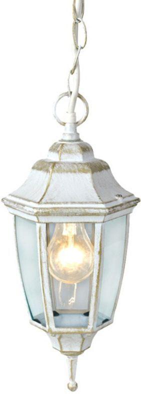 Светильник уличный Duwi Sheffield, цвет: белое золото, 970 мм. 25729 525729 5Подвесной потолочный светильник на длинной цепочке серии Sheffield выполнен в средневековом стиле. Цвет: белый с золотом.