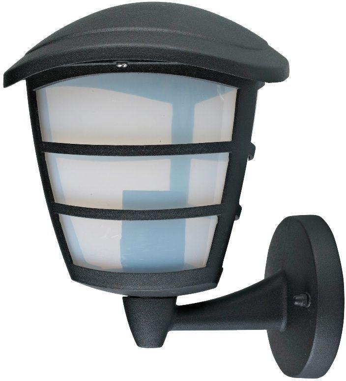 Светильник уличный Duwi Wien, цвет: черный, 223 мм. 28912 828912 8Бра вверх Корпус литой алюминий, цвет: черный матовый Декоративный молочный рассеиватель. Лампа накаливания макс. Е27, 60Вт Степень защиты IP44 Размеры, см: W17 x H22,5 x D19,5 Крепления, влагозащитные заглушки и кольца в комплекте.