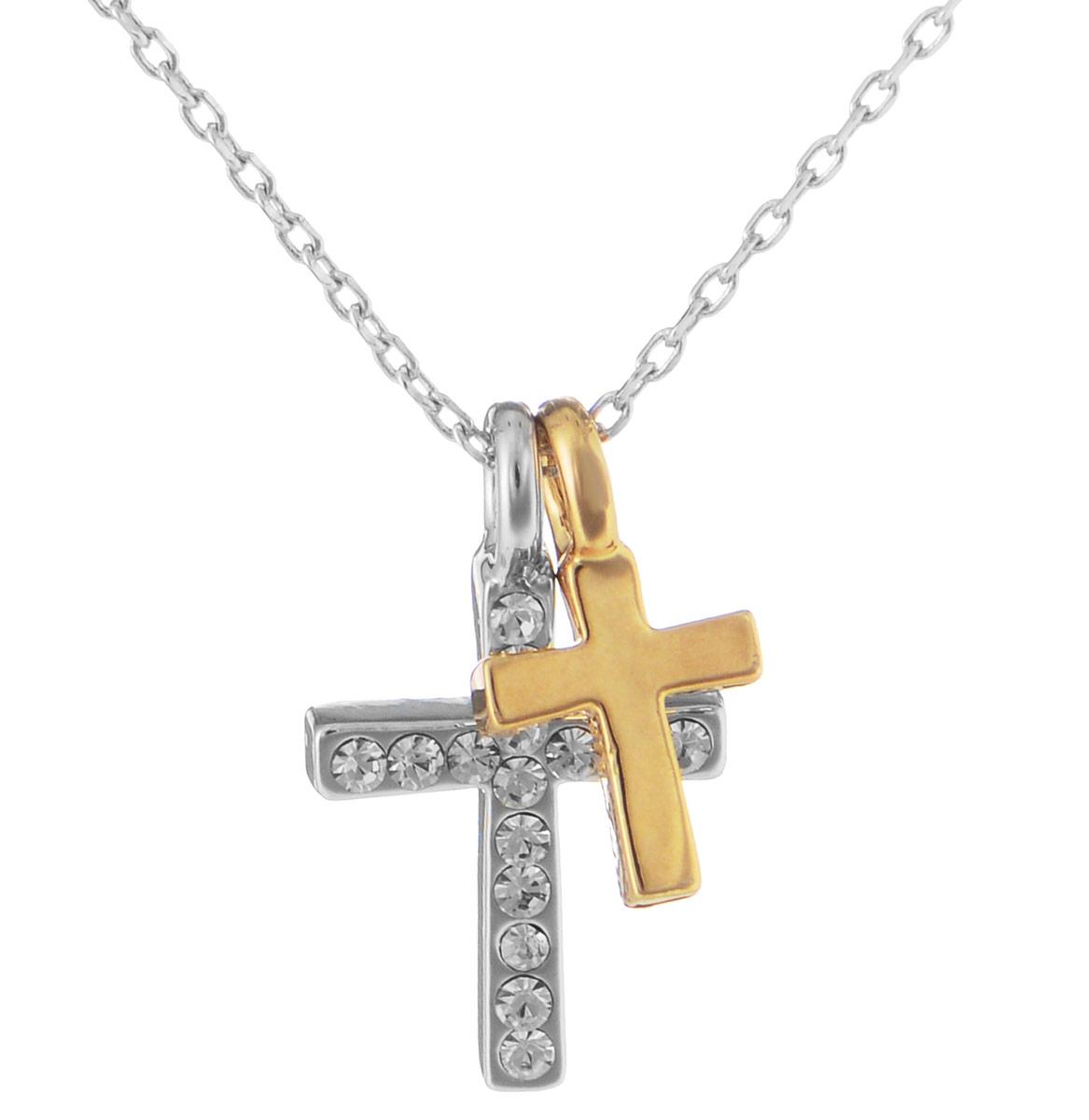Кулон Art-Silver, цвет: серебряный, черный, золотой, 2 шт. 10785-539