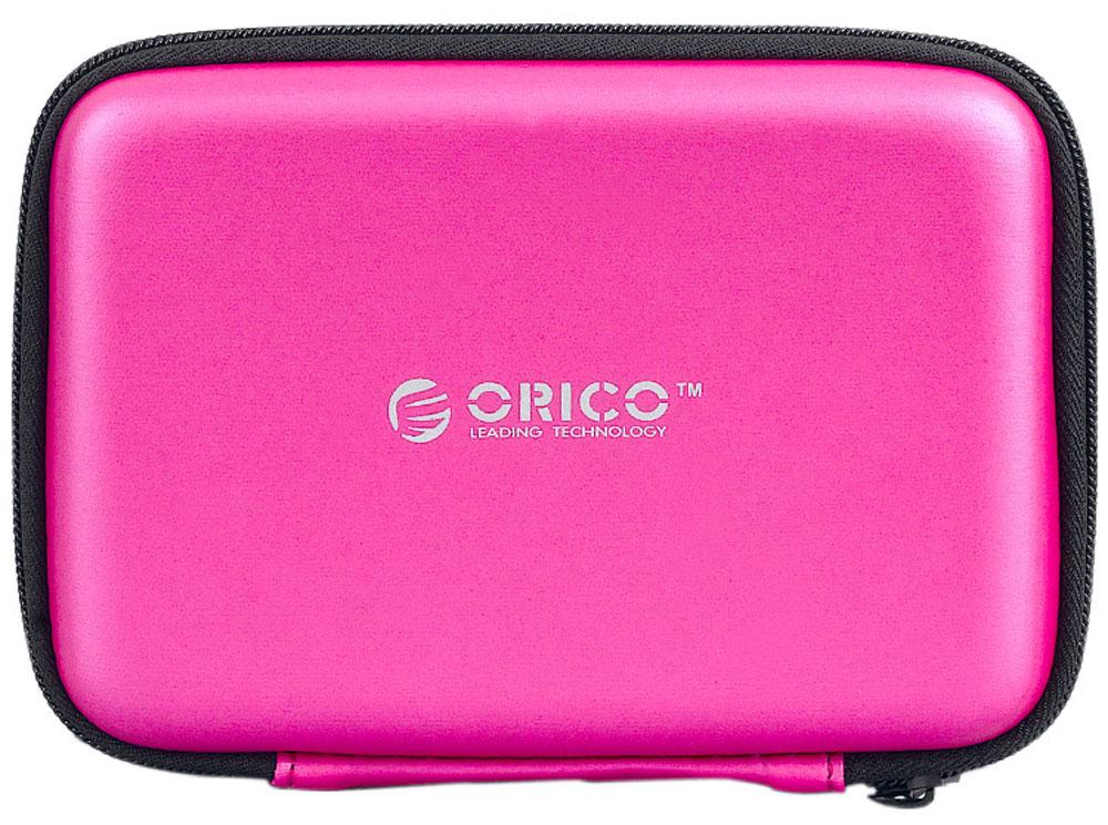 Orico PHB-25, Pink чехол для жесткого дискаORICO PHB-25-PKOrico PHB-25 подойдёт для хранения внешних жёстких дисков и аксессуаров. В чехле также хватит места для кабеля USB, флешек и карт памяти. Изготовлен из специального EVA-материала, который защищает содержимое чехла от водяных брызг, пыли и статического электричества, которое может повредить электронику. При этом материал чехла можно легко очистить от грязи. Благодаря качественной и удобной молнии, Orico PHB-25 без проблем выдержит много циклов открытия и закрытия и долго прослужит своему владельцу.
