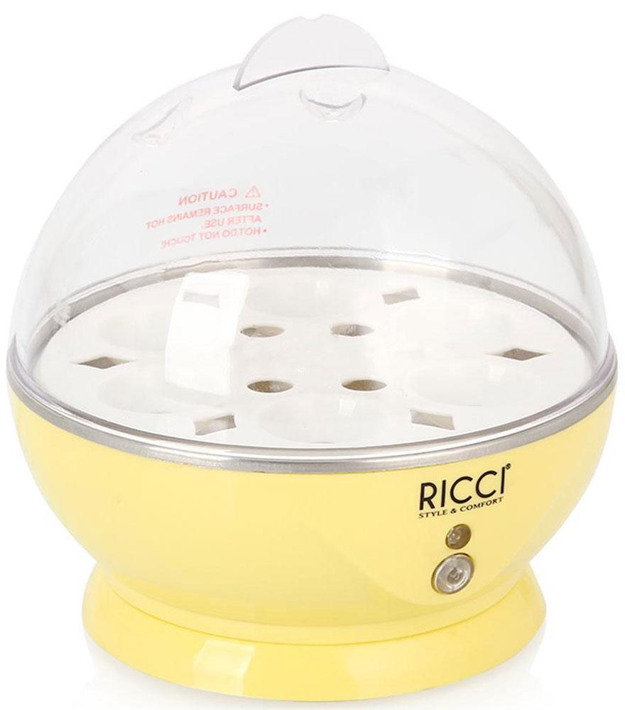 Ricci ZDQ-601 яйцеварка31 ZDQ-601Ricci ZDQ-601 - компактная яйцеварка, которая позволит готовить яйца на пару. При этом используется минимальное количество воды. Каждое яйцо (максимум 6 штук) помещается в свое гнездышко, поэтому яйца не соприкасаются друг с другом, а, значит, не трескаются и не вытекают.