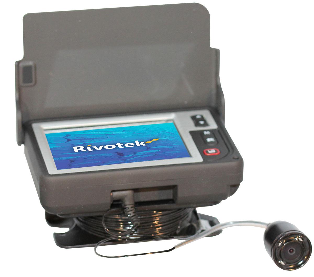 """Подводная камера Rivotek LQ-3505T127850Подводная влагозащищенная камера c 4-х светодиодной ИК подсветкой и 3,5"""" дисплеем для наблюдения за рыбой на глубинах до 15 метров"""