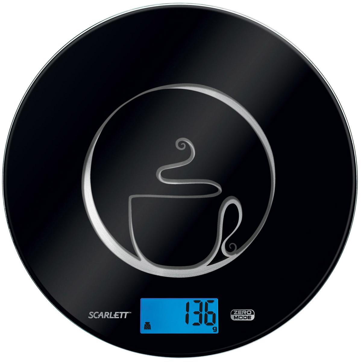 Scarlett SC-1215, Black весы кухонныеSC-1215Кухонные весы Scarlett SC-1215 - это отличный помощник на вашей кухне. Функция компенсации тары позволит взвешивать не учитывая массу тары, а высокая точность даст возможность точно следовать вашим любимым рецептам. Данная модель также имеет индикатор перегрузки и заряда батареи.