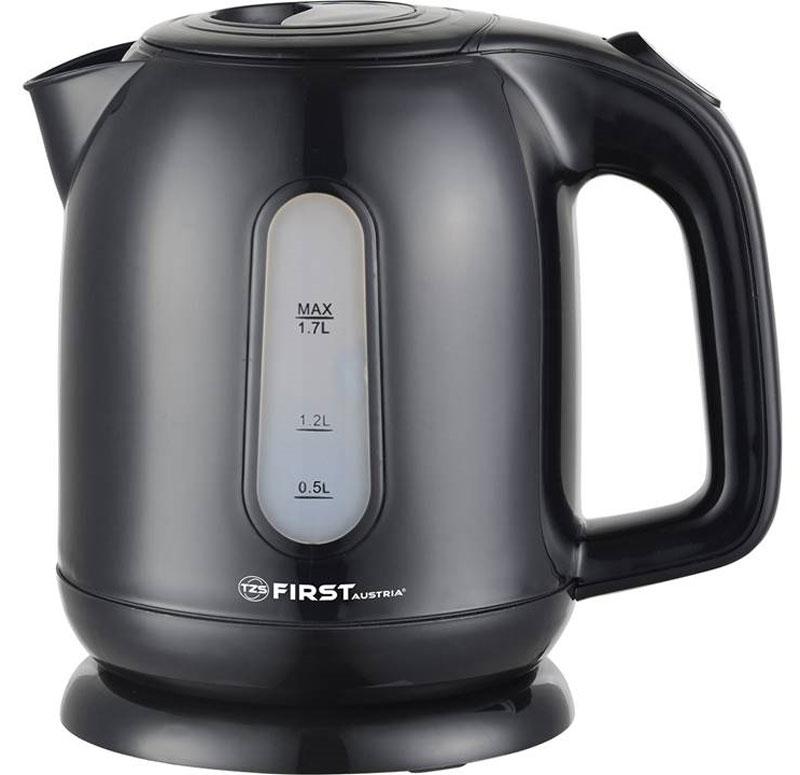 First FA-5427-5, Black чайник электрическийFA-5427-5 BlackЧайник First FA-5427-5 Black , пластиковый Мощность 2200 Вт.Максимальный объем 1.7 л Black