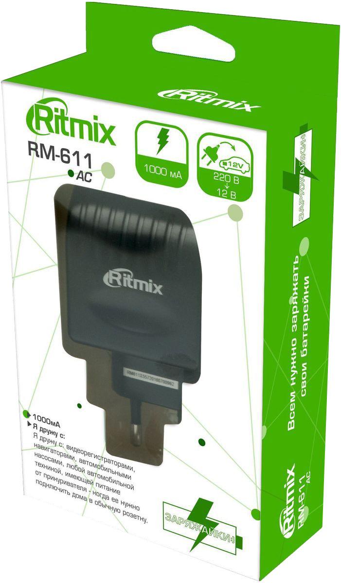 Ritmix RM-611, Black преобразователь напряжения ritmix rdf 808w black brown цифровая фоторамка
