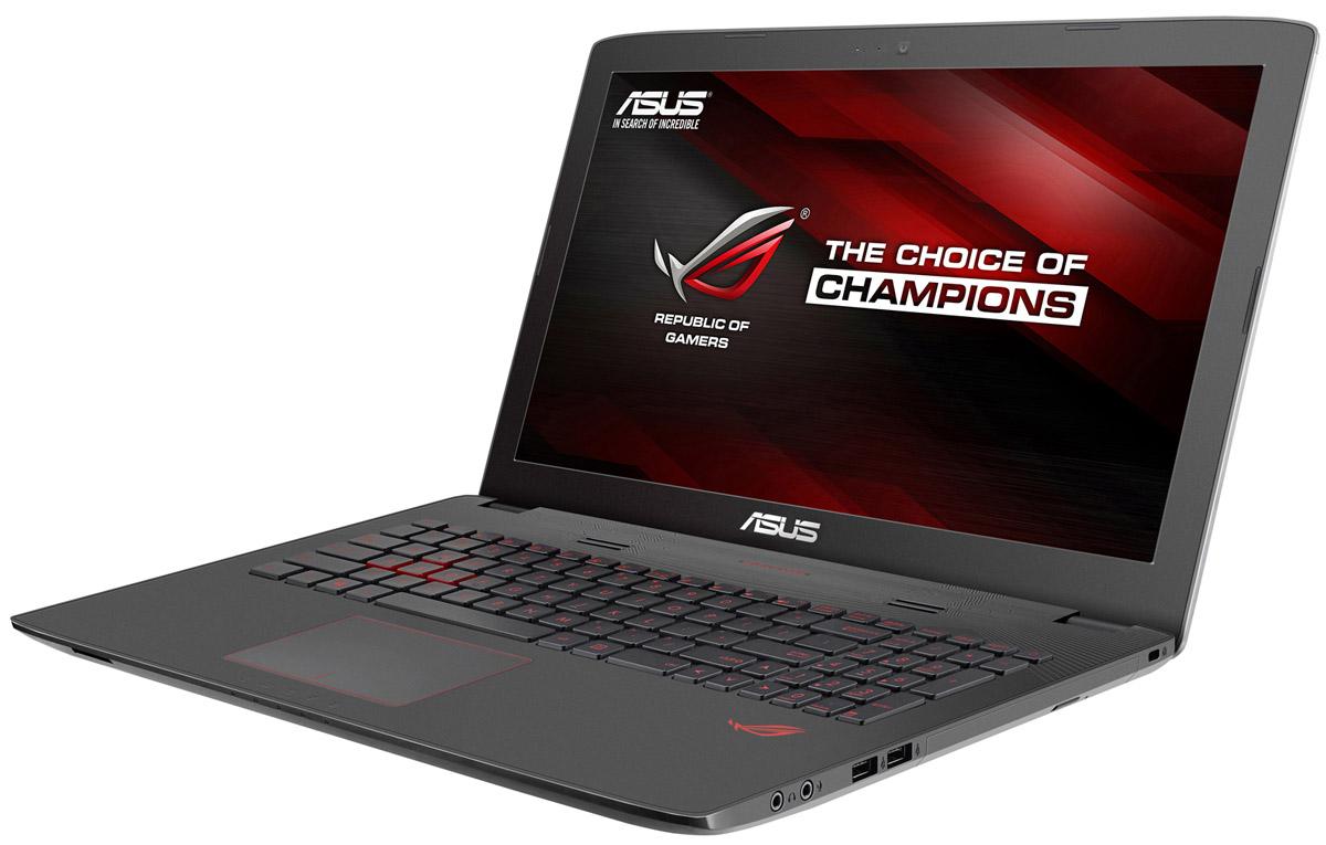 ASUS ROG GL752VW, Grey Metal (GL752VW-T4505T)GL752VW-T4505TМаксимальная скорость, оригинальный дизайн, великолепное изображение и возможность апгрейда конфигурации - встречайте геймерский ноутбук Asus ROG GL752VW. В компактном корпусе скрывается мощная конфигурация, включающая операционную систему процессор Intel Core и дискретную видеокарту NVIDIA GeForce. Ноутбук также оснащается интерфейсом USB 3.1 в виде удобного обратимого разъема Type-C. Клавиатура ноутбуков серии GL752 оптимизирована специально для геймеров. Прочная и эргономичная, эта клавиатура оснащается подсветкой красного цвета, которая позволит с комфортом играть даже ночью. Для хранения файлов в GL752 имеется жесткий диск емкостью до 2 ТБ. Кроме того, в эту модель может устанавливаться опциональный твердотельный накопитель с интерфейсом M.2 и емкостью до 256 ГБ. Функция GameFirst III позволяет установить приоритет использования интернет-канала для разных приложений. Получив максимальный приоритет, онлайн-игры будут работать...
