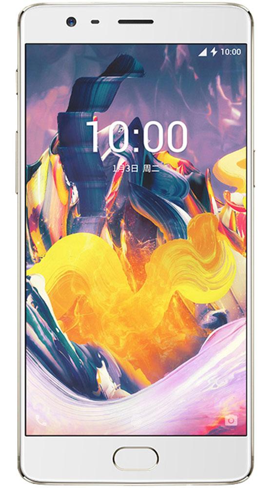 OnePlus 3T, Soft Gold0101090211OnePlus 3T является обновленной и улучшенной версией OnePlus 3. Благодаря процессору Qualcomm Snapdragon 821 устройство работает на 10% быстрее и экономит заряд на 5% лучше, чем его предшественник. OnePlus 3T работает под управлением собственной оболочки Oxygen OS 4.0, созданной на основе Android 7.0 Nougat. Емкость аккумулятора увеличена с 3000 до 3400 мАч. Отдельно стоит сказать о камере, благодаря которой OnePlus 3T может соперничать с флагманами самых известных брендов. Смартфон оснащен 16-мегаписельным сенсором Sony IMX298 и диафрагмой f2.0, кроме того в обновленной модели производитель улучшил работу оптической стабилизации (OIS) и обновил электронную (EIS) до версии 2.0. Неизменными остались следующие технические характеристики: диагональ дисплея (5,5 дюйма), объем оперативной памяти (6 ГБ) и поддержка технологии Dash Charge. Корпус сделан из авиационного алюминия, на котором не остаются отпечатки пальцев. OnePlus 3T доступен в...