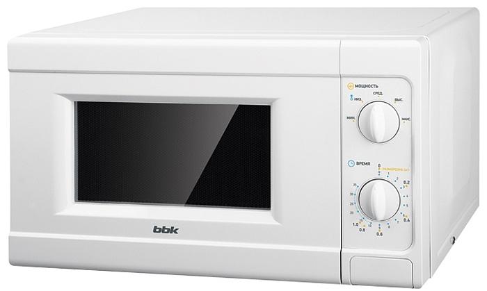 BBK 20MWS-705M/W микроволновая печь20MWS-705M/WМикроволновая печь BBK 20MWS-705M/W с механической панелью управления будет для вас незаменимым помощником на кухне. На панель выведены поворотные переключатели, что облегчает использование и управление СВЧ-печью. Данная модель оснащена 5-ю уровнями мощности излучения, что позволит быстро воплотить в жизнь любые кулинарные фантазии. Таймер времени рассчитан на 35 минут. Диаметр поддона: 25,4 см.
