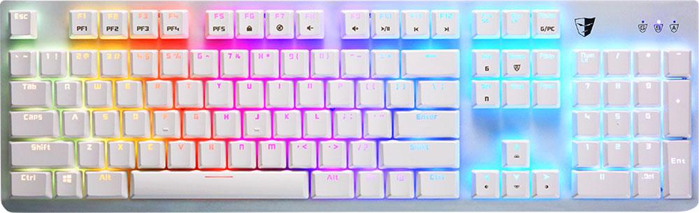 Tesoro Gram Spectrum (Kailh Red), White игровая клавиатураTS-G11SFL WHTGram Spectrum - это механическая клавиатура, оборудованная фирменными механическими переключателями от Tesoro - AGILE. Новые переключатели имеют уменьшенную высоту и длину хода по сравнению с переключателями стандартного размера. Однако, при всем этом, инженерам компании удалось сохранить основные характеристики полноразмерных кнопок - тактильные ощущения, скорость и точность срабатывания. Клавиатура Gram Spectrum имеет полноцветную RGB подсветку. В данной клавиатуре установлены переключатели AGILE Kailh Red - только профессиональный игрок сможет использовать этот потенциал. Пониженное усилие нажатия. Не имеют щелчка. Не имеют отдачи.